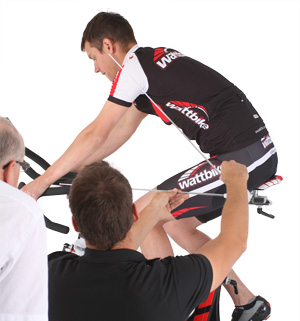 wattbike showing fore and aft position